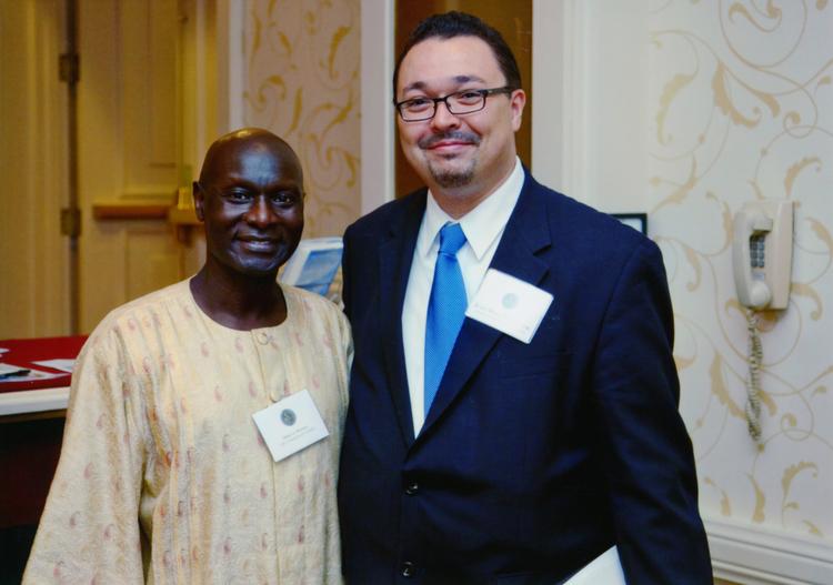2009 Marc Moorghen with UN Under-Secretary General Olara Otunnu.jpg