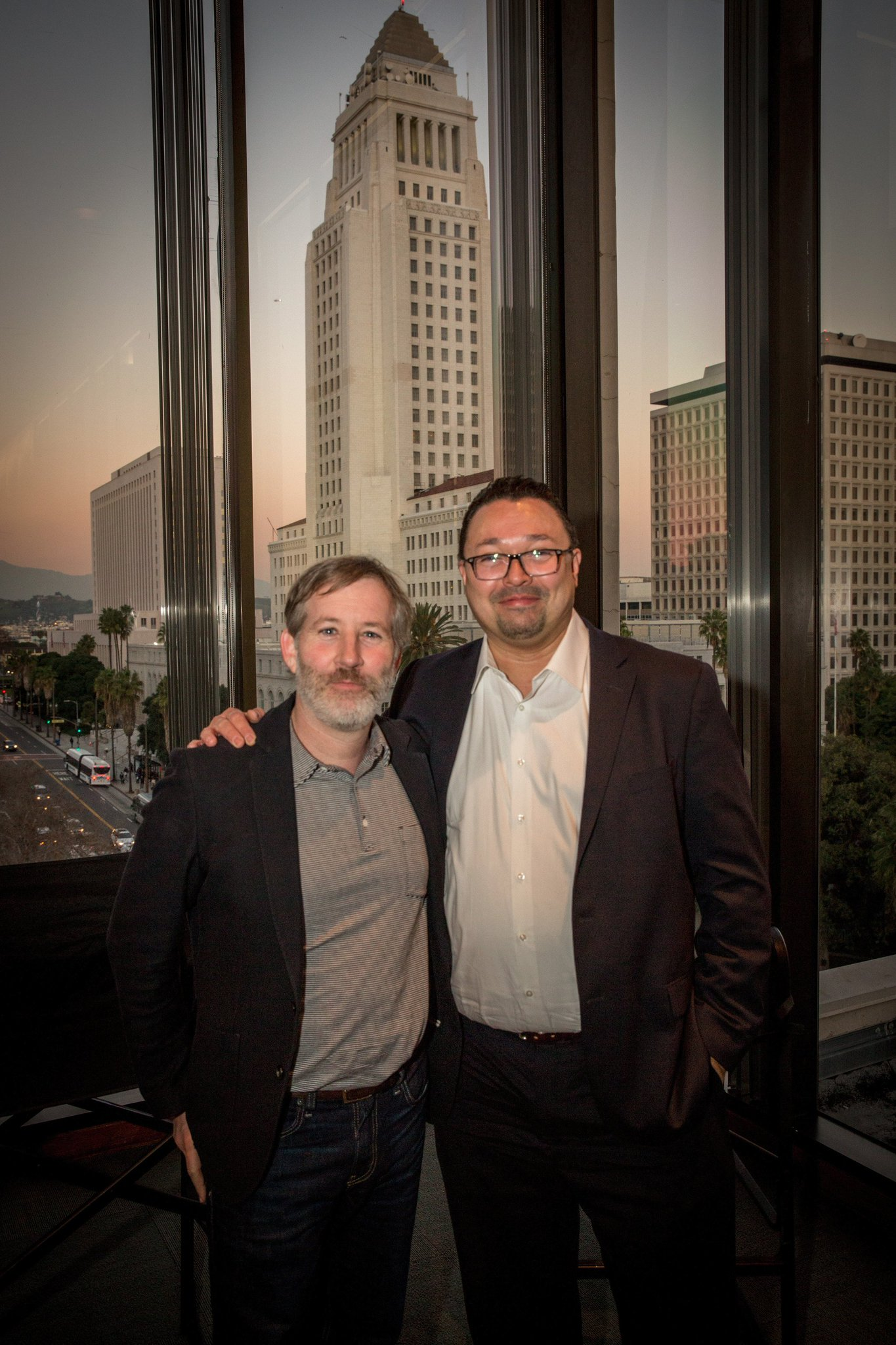 Marc Moorghen and Sean Gibbons at the LA Times for the Communications Network.jpg