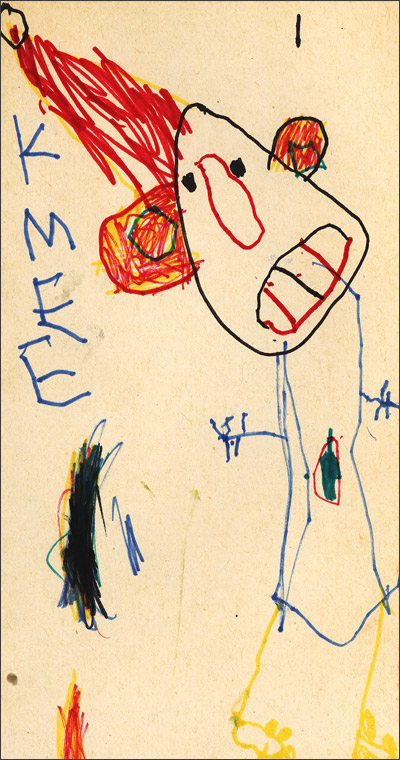 Self portrait by Kim Campbell, age 4