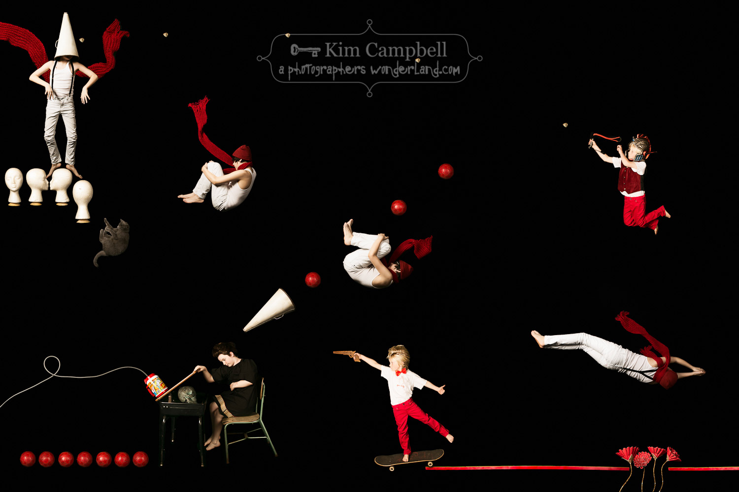 The Childhood Gravity Games - Red // by fine art photographer Kim Campbell