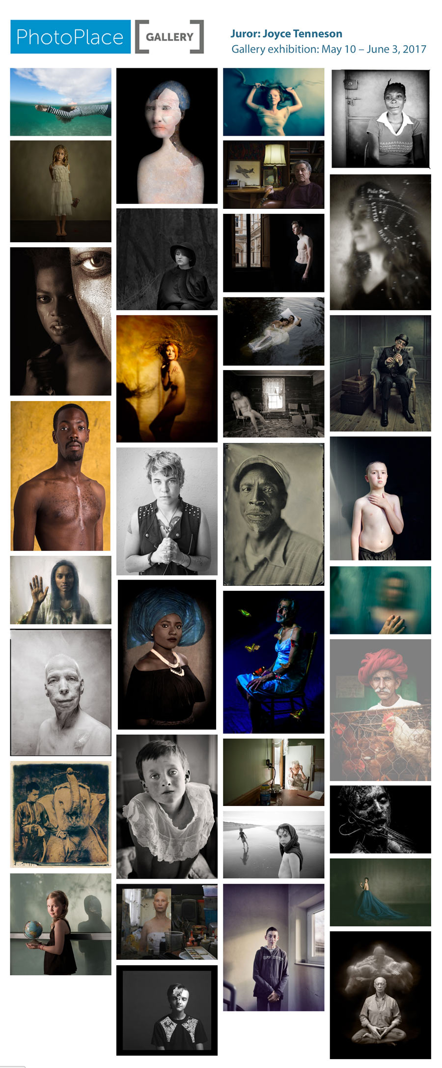 Intimate Portraits, juried by Joyce Tenneson at PhotoPlace Gallery in Middlebury, Vermont
