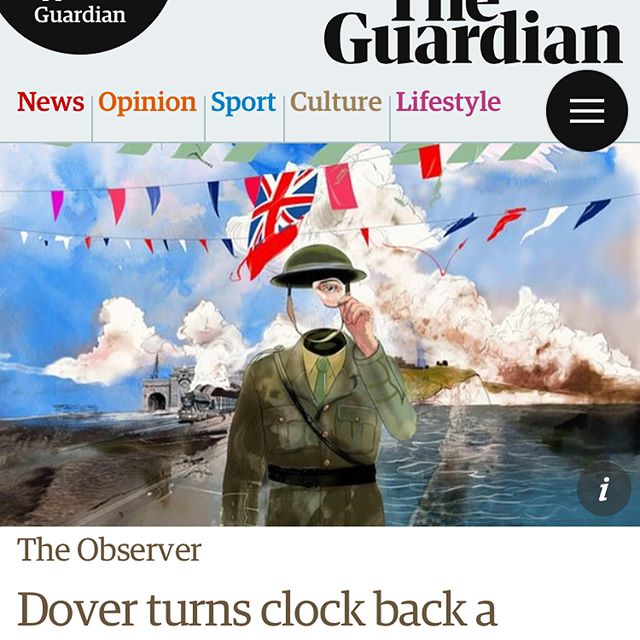 A happy surprise for this Easter Morning! The @marlowetheatre upcoming show 'Return of the Unknown' gets a great piece in the Observer with my image front & centre. Link in bio!  #themarlowe #returnoftheunknown #WW1 #illustration #sketch #art #theatre #storytelling  #easter #marlowe #dover #observer #guardian #remember