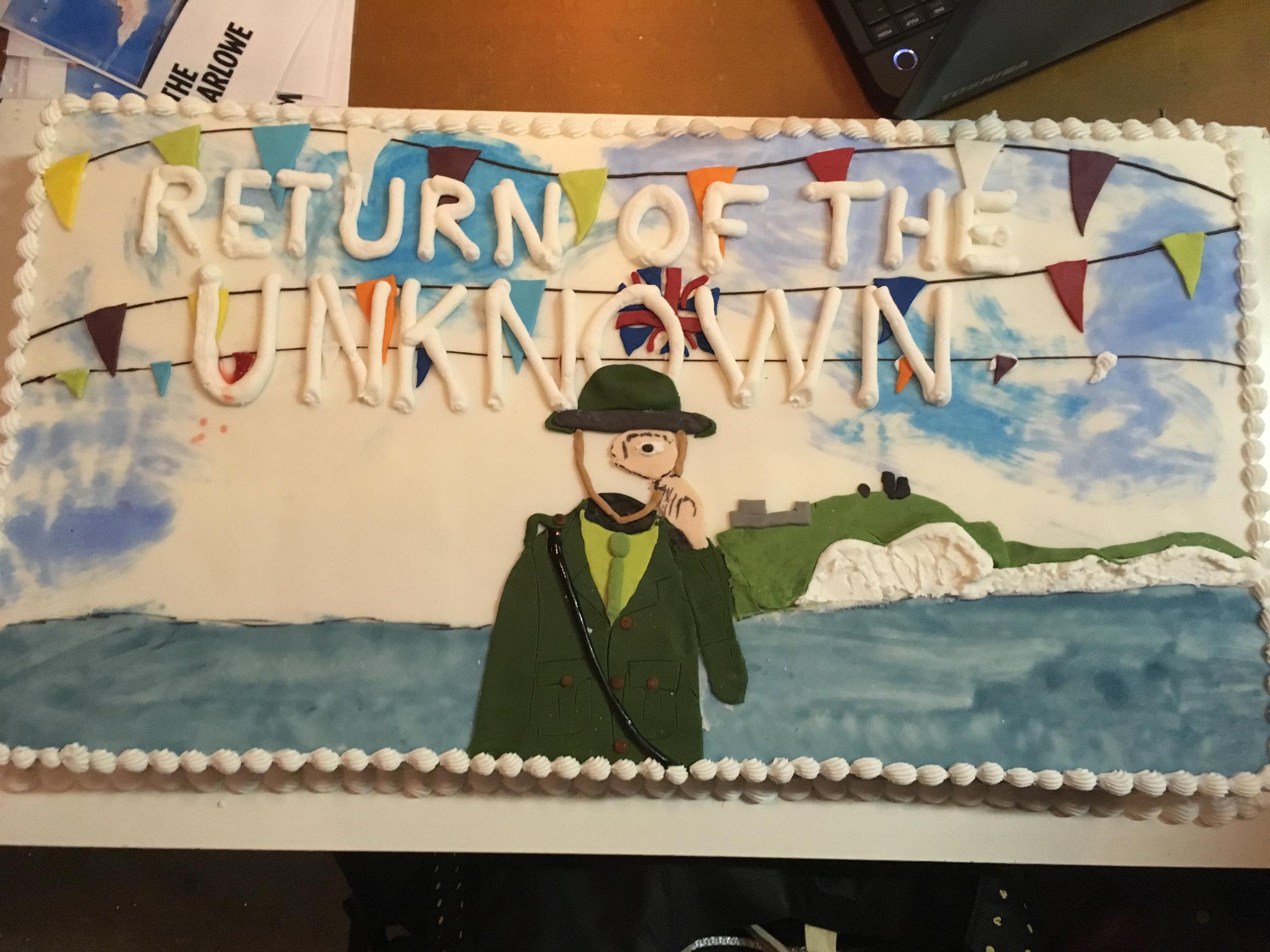 On a cake!