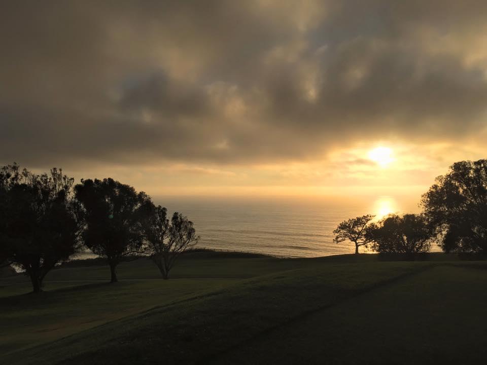 Golden hour. [Location: Torrey Pines, La Jolla]