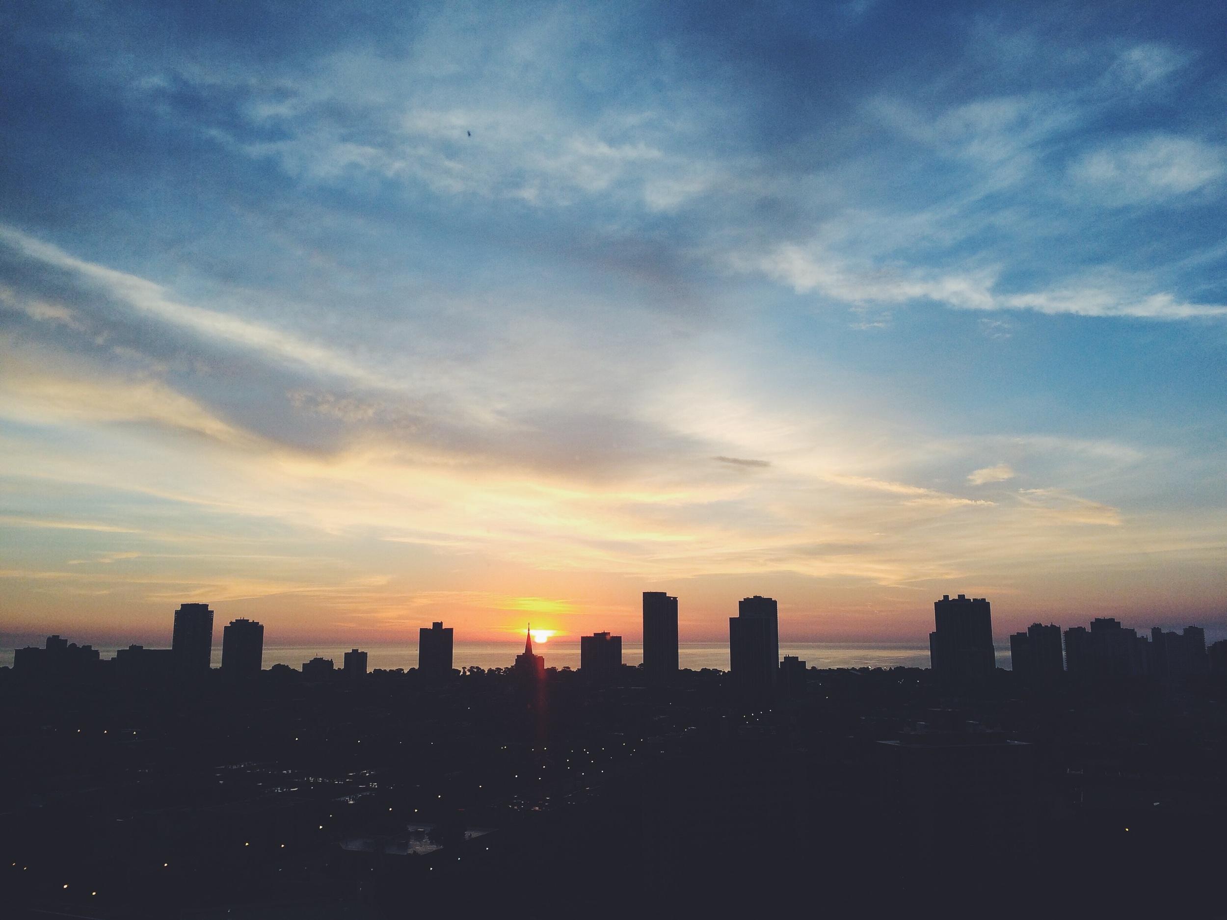 From Chicago winter sunrises, so summer sunrises.