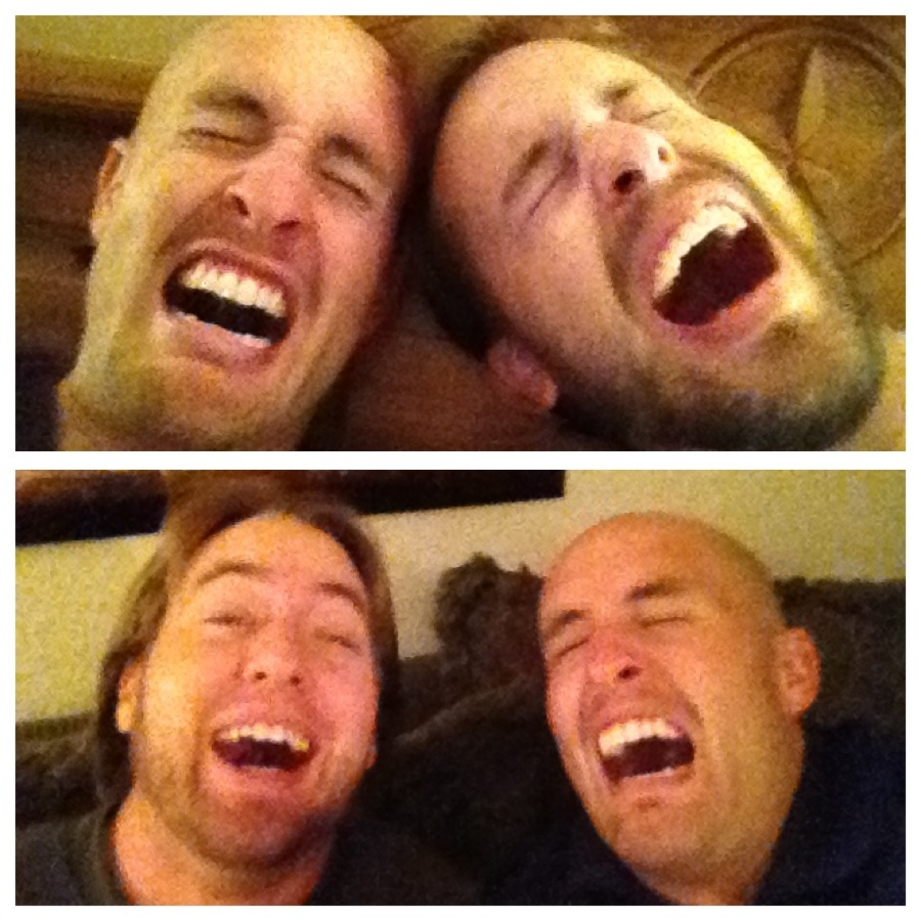 That's my brother, Jeff, and me on top. And my brother, Brad, and me on bottom. We're idiots. But we have a lot of fun.