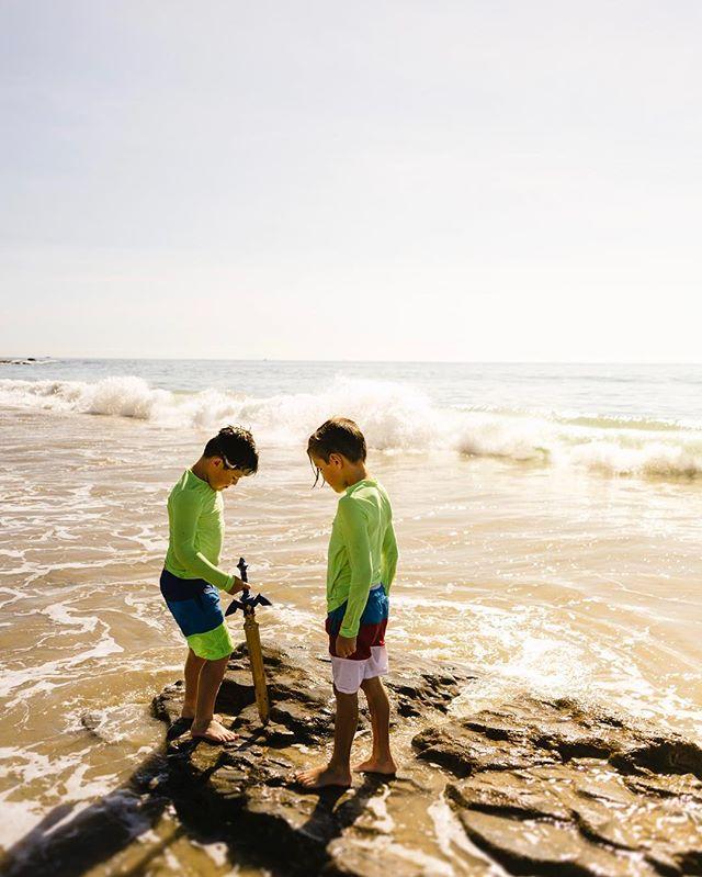 My boys and the beach...My happy place.  #orangecounty #thesincerestoryteller #nikon #vsco #childhoodunplugged #thesincerestoryteller