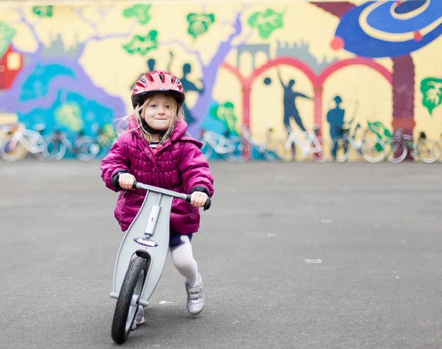 61/365  First time on her balance bike!