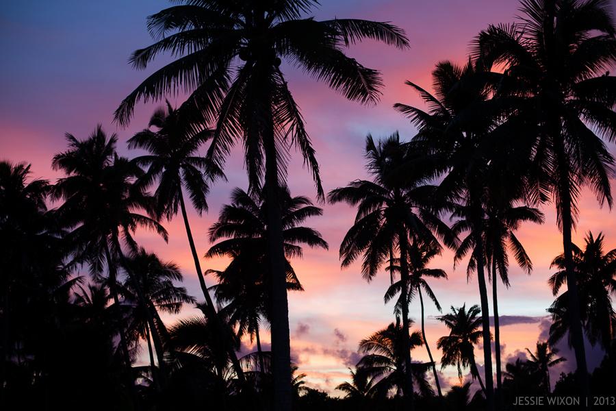 88/365  True life colors of sunrise in Aitutaki, Cook Islands