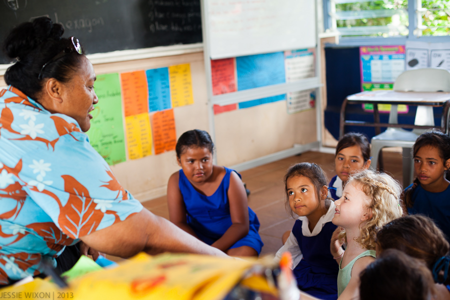 93/365  Visiting local school on Aitutaki