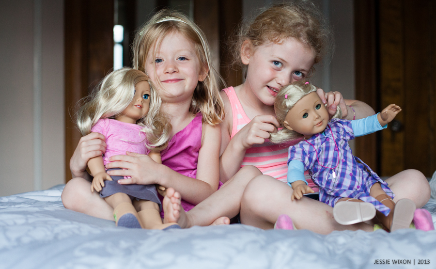 168/365  Girls and their AG dolls