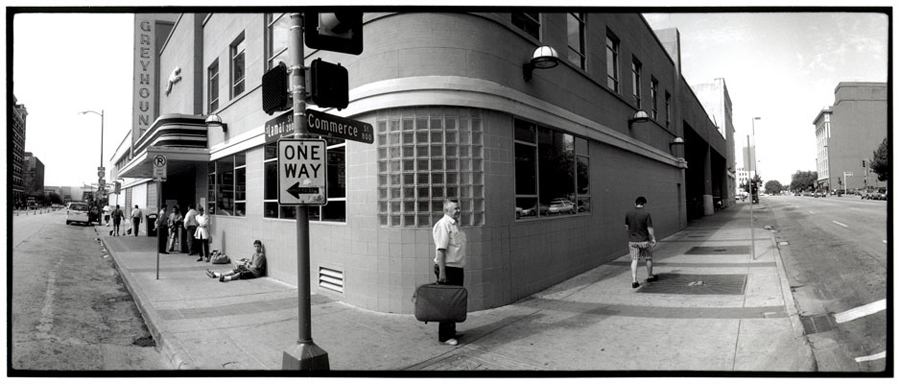 Bus Station (man with bag), Dallas, Texas