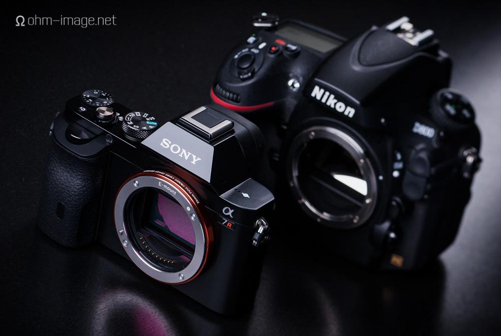 front: Sony ILCE-7r; rear: Nikon D800