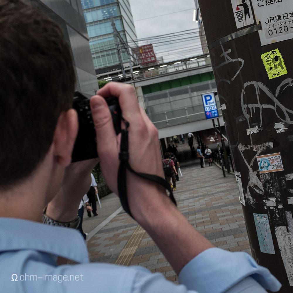 Martin shooting the graffiti seen in his blog post,  Like A Leica