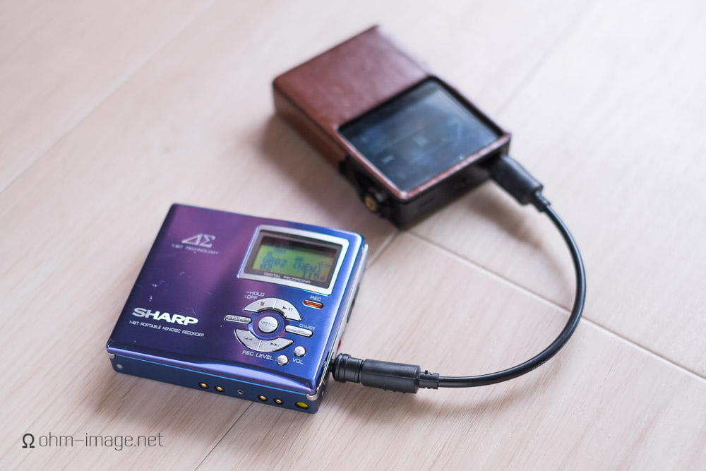 Sharp MD-DR7 acting as a DAC for the Astell & Kern AK120