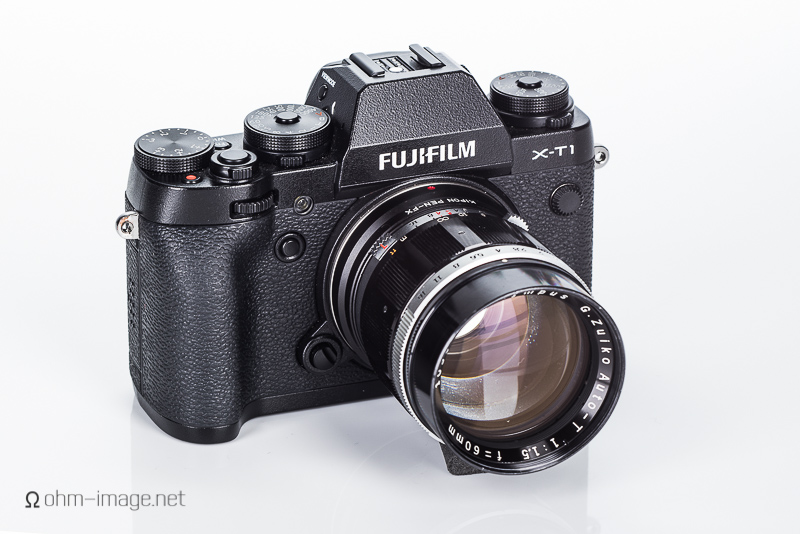 Fujifilm X-T1 and Olympus 60/1,5 Pen F lens