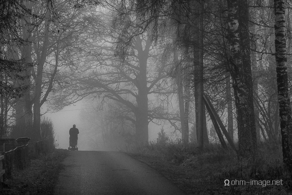 Granny walking baby, Holsbybrunn