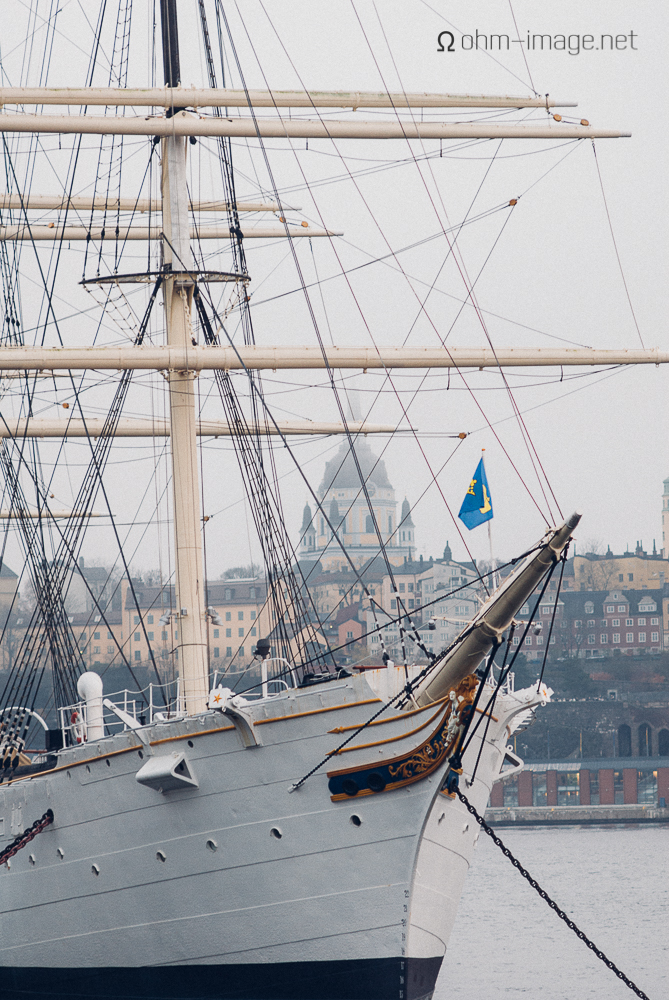 Sail boat (famously shot by 4x5 slide photographers since hells bells),Stockholm (urban landscape)