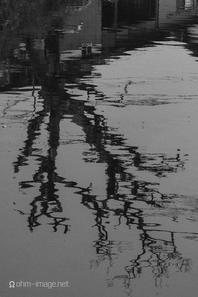 Reflection of tree in water, Ureshino