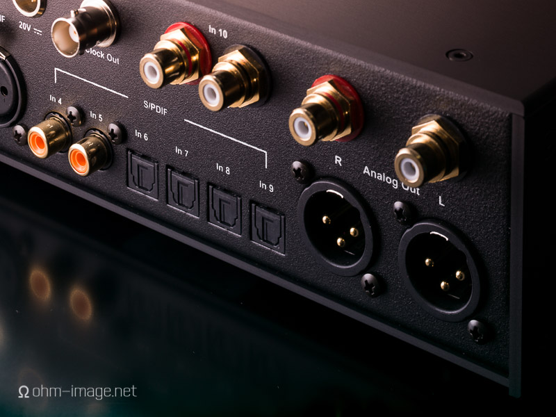 Part of the Pro-Ject Pre Box RS Digital's rear panel,  originally taken for this review