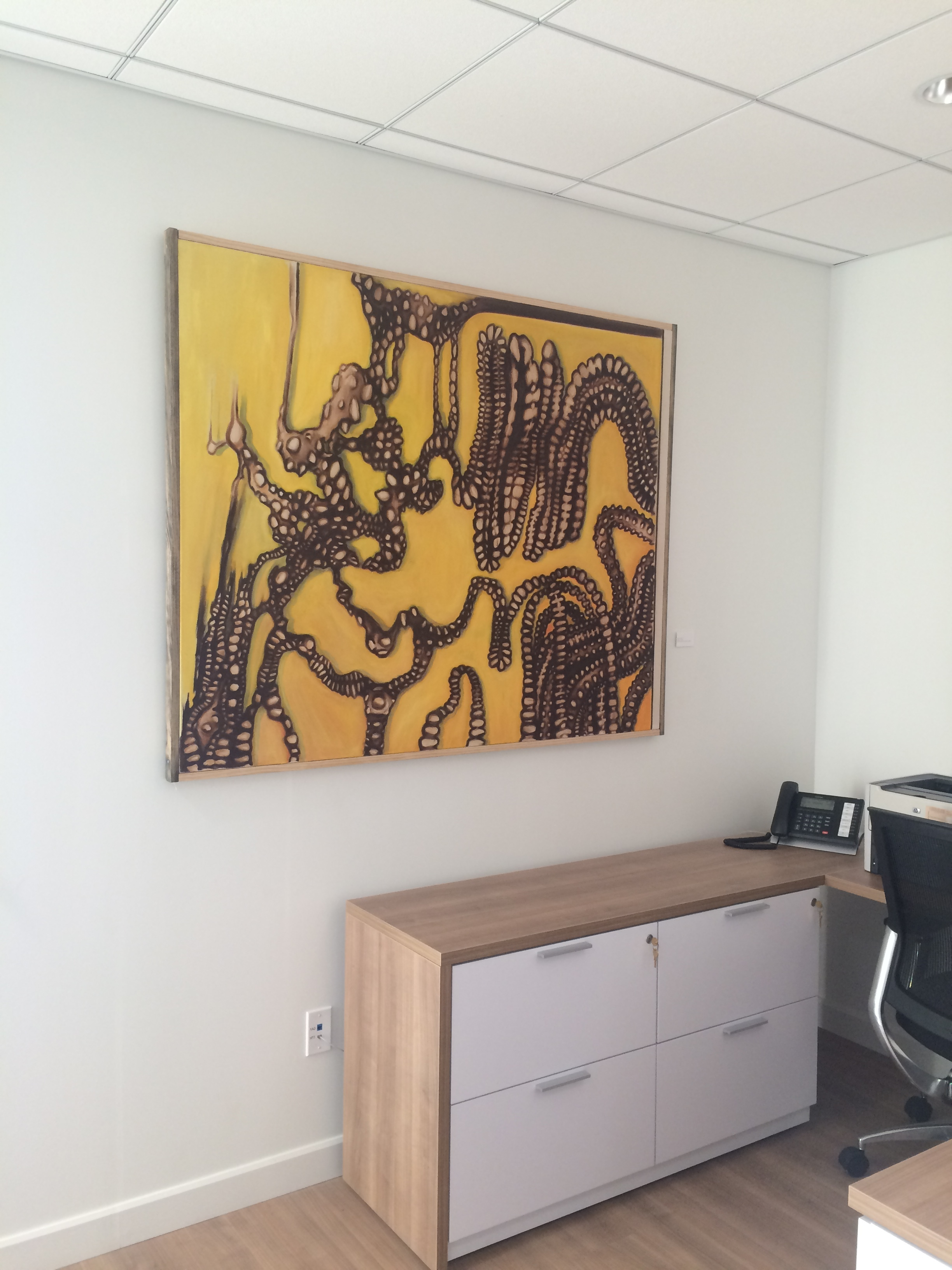 """""""Rule of Three"""" hanging at Fowler Volkswagen of Norman, Oklahoma. (2015)"""