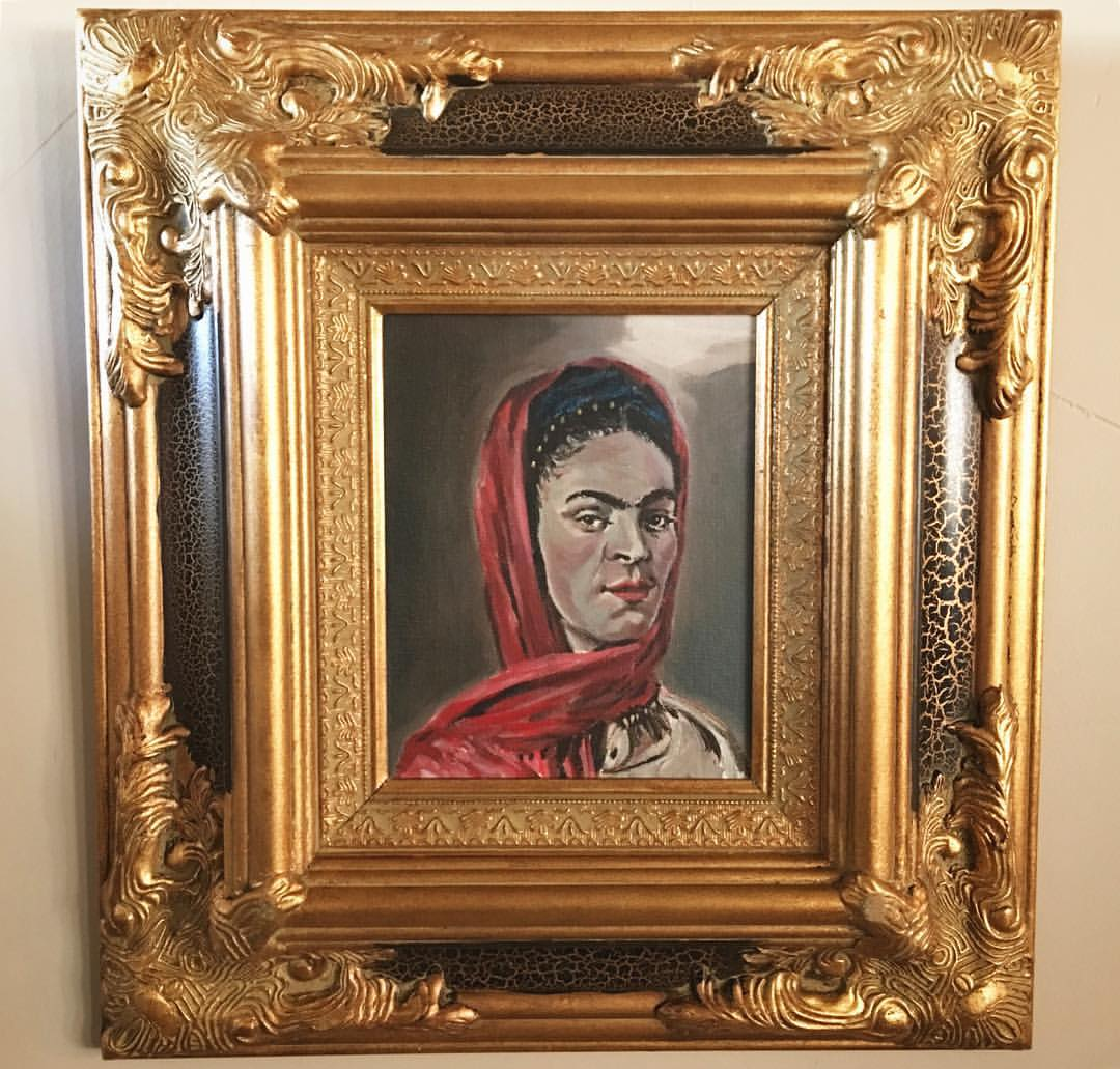 """""""Frida"""" commission with frame. (2014)"""