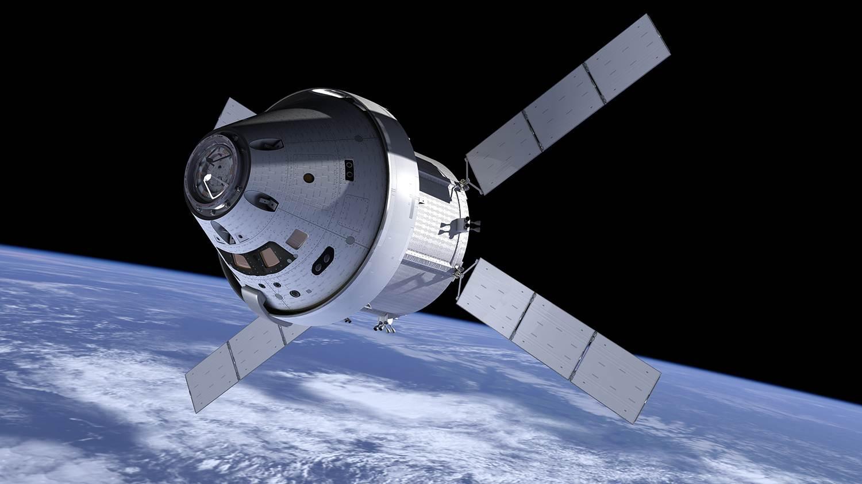 NASA Orion with ATV Service Module. Image Credit NASA