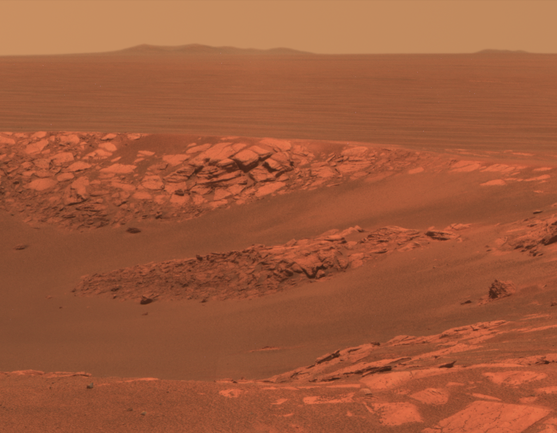 Aerospace - LEADING EDGE: This photo of Mars was taken by the NASA/JPL Mars Exploration Rover, one of the projects across space science, human exploration, and commercial space that I have been a part of. In addition to working across multiple levels of development in a variety of leadership positions, I co-founded a successful aerospace startup. (1998-2012) [More…]