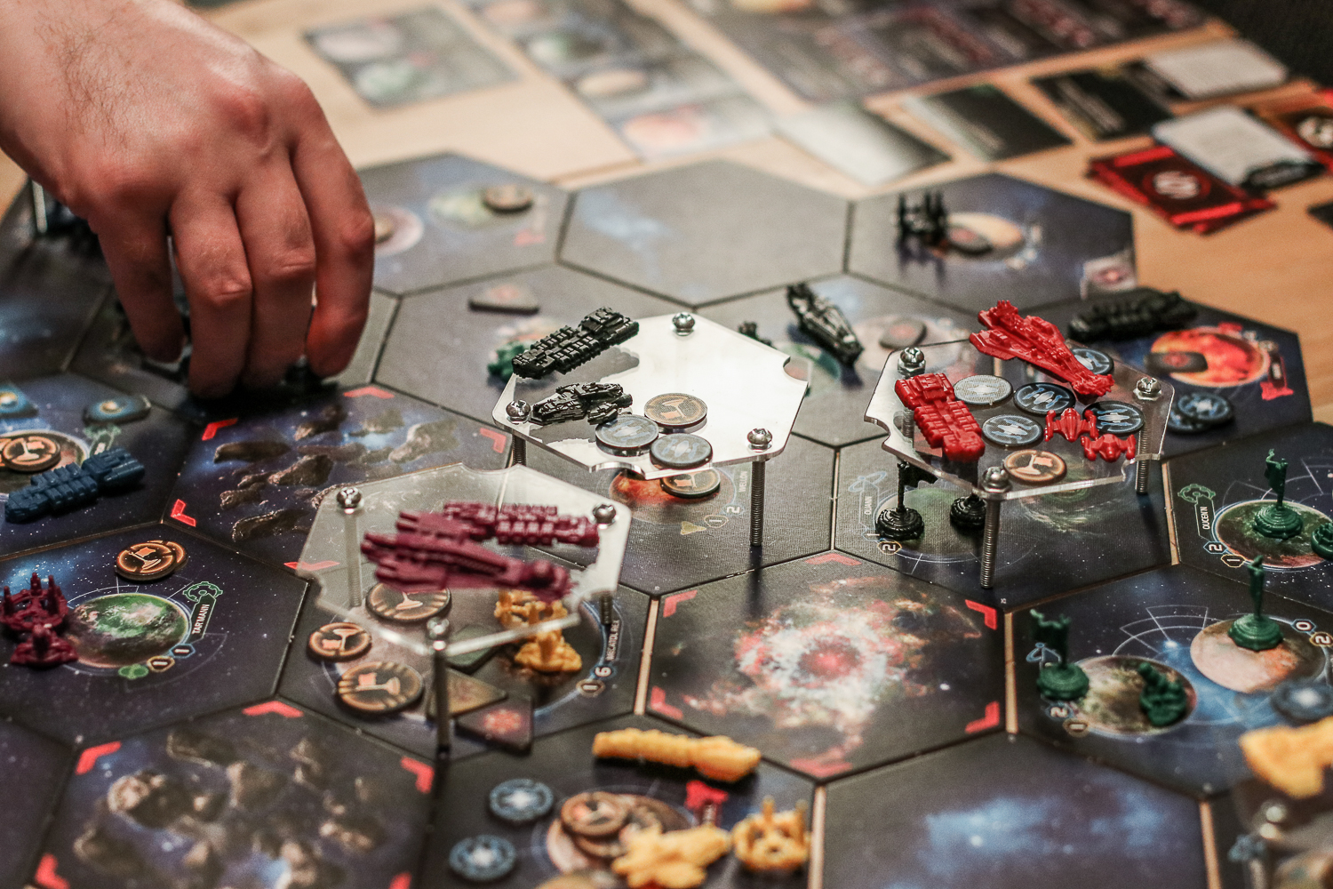 Brock (red) was up to some wormhole shenanigans trying to goad Scott (black) into combat.