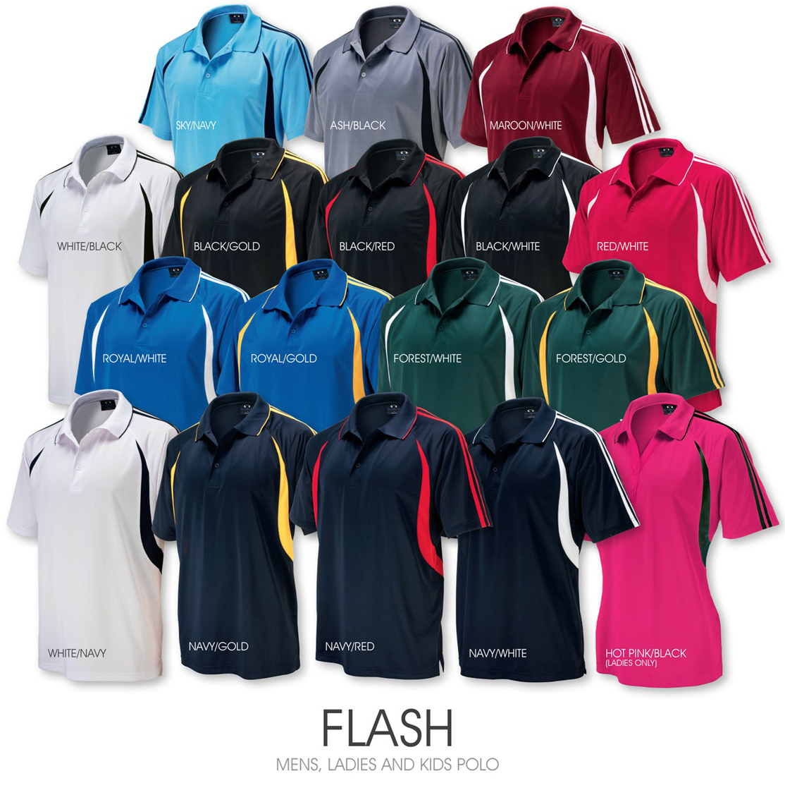 Flash men's ladies and kids polo.jpg
