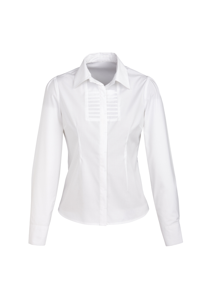 S121LL     LADIES BERLIN L/S SHIRT   61% COTTON 35% POLYESTER 4% ELASTANE   I  white    SIZES  :   6   8   10   12     1  4   16   18   20   22   24   26