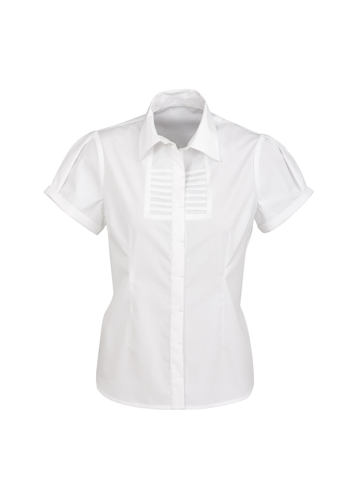 S121LS   LADIES BERLIN S/S SHIRT   61% COTTON 35% POLYESTER 4%ELASTANE  I  white    SIZES  :   6   8   10   12     1  4   16   18   20   22   24   26