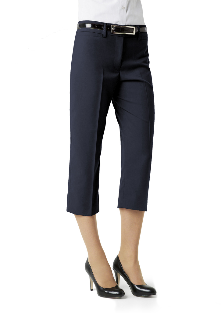 BS29321  LADIES EASY CARE 3/4 PANTS  65% POLYESTER 35% VISCOSE I  NAVY    SIZES  :6  8  10  12  14  16  18  20  22  24  26