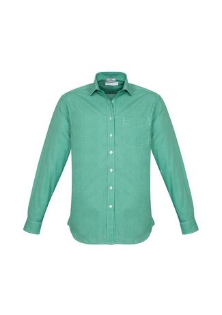 S716ML  ElLIson check  $42.45  55% cotton 45polyester  green/White sizes:  s m l xl 2xl 3xl 4xl 5xl