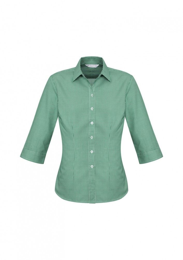s716lt  ellison check  $41.51  55% cotton 45% polyester  green/white   sIZES : 6 8 10 12 14 16 18 20 22 24
