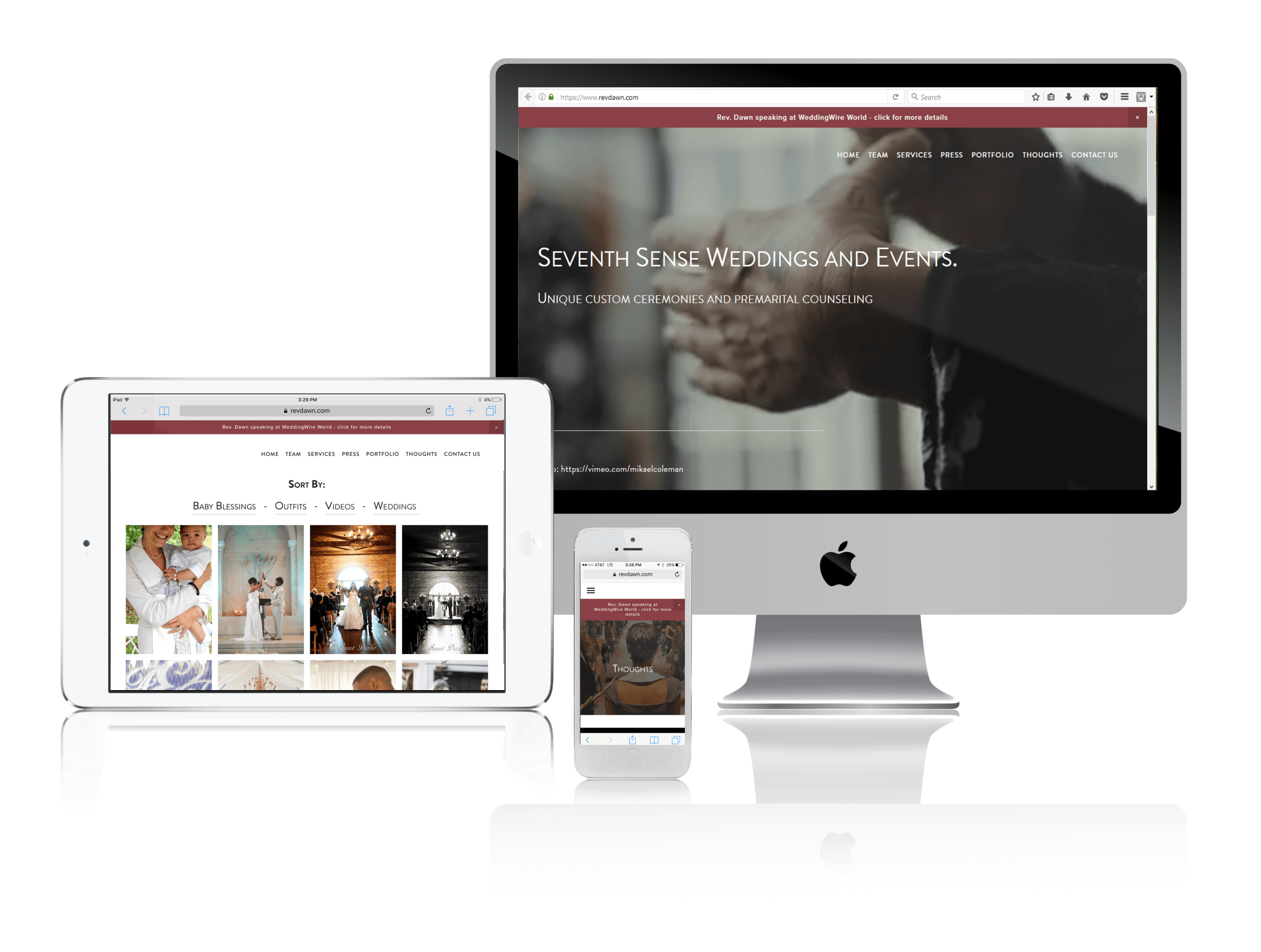 Squarespace for Wedding Officiants