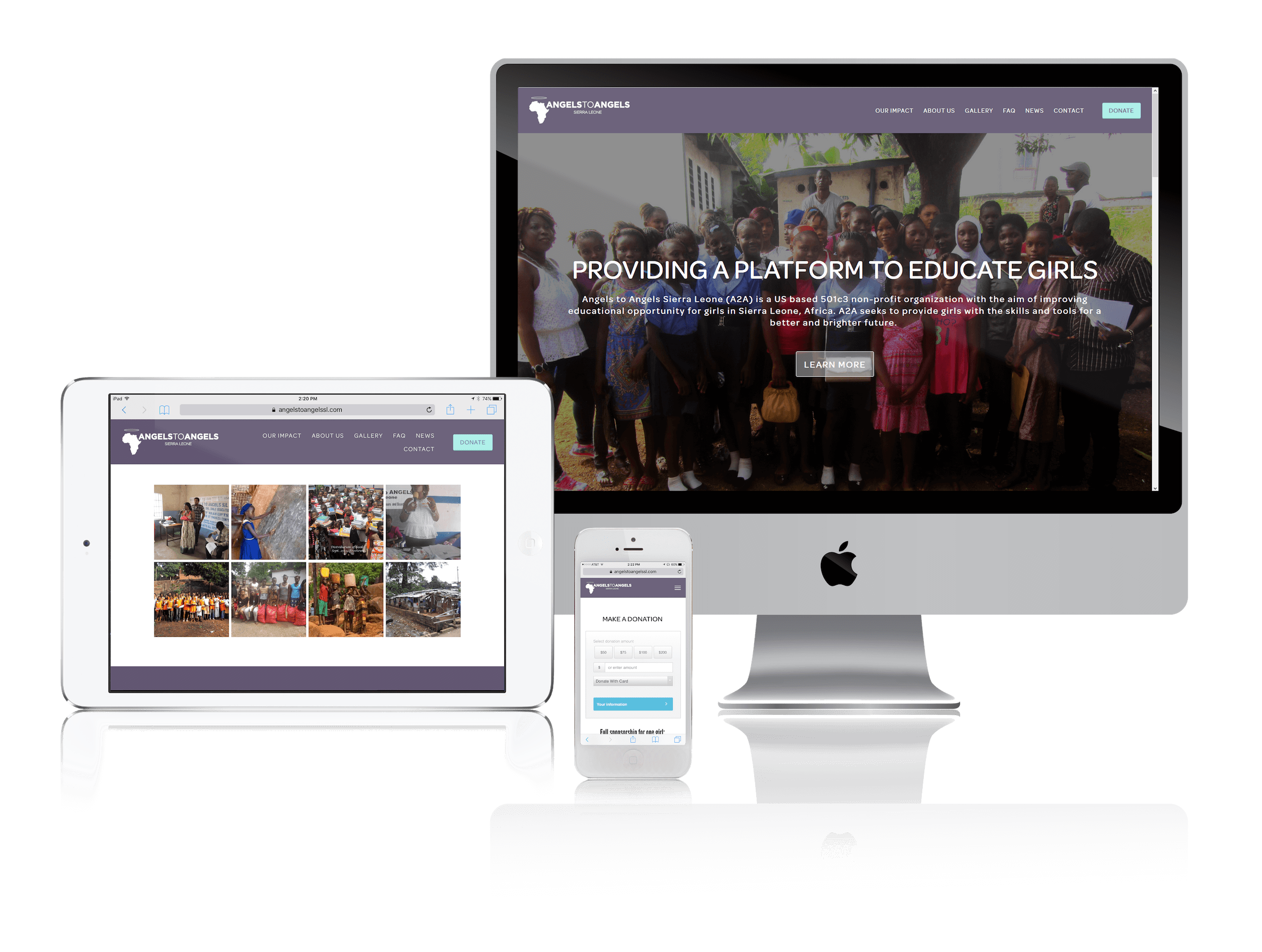 Squarespace for Nonprofit Supporting Education for Girls in Africa