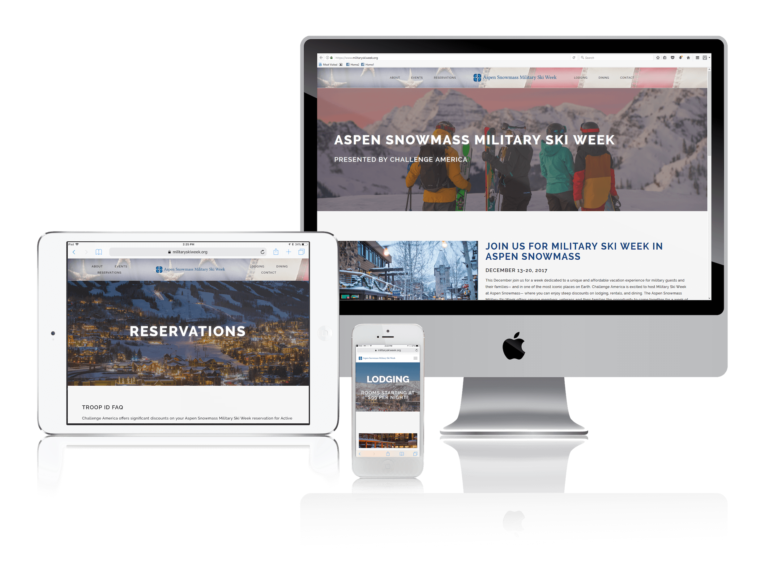 Squarespace for Military Events