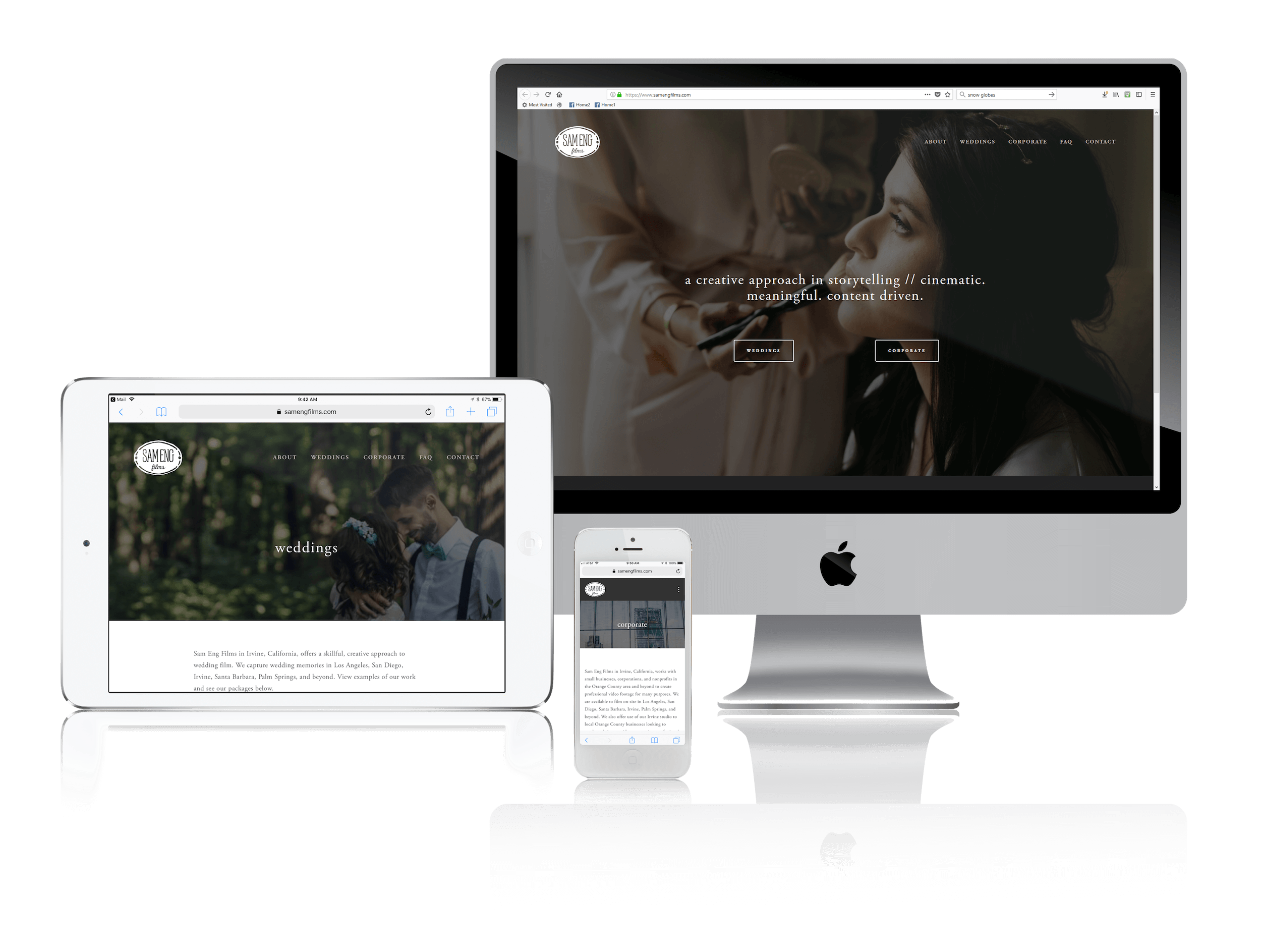 Squarespace for Wedding Videography