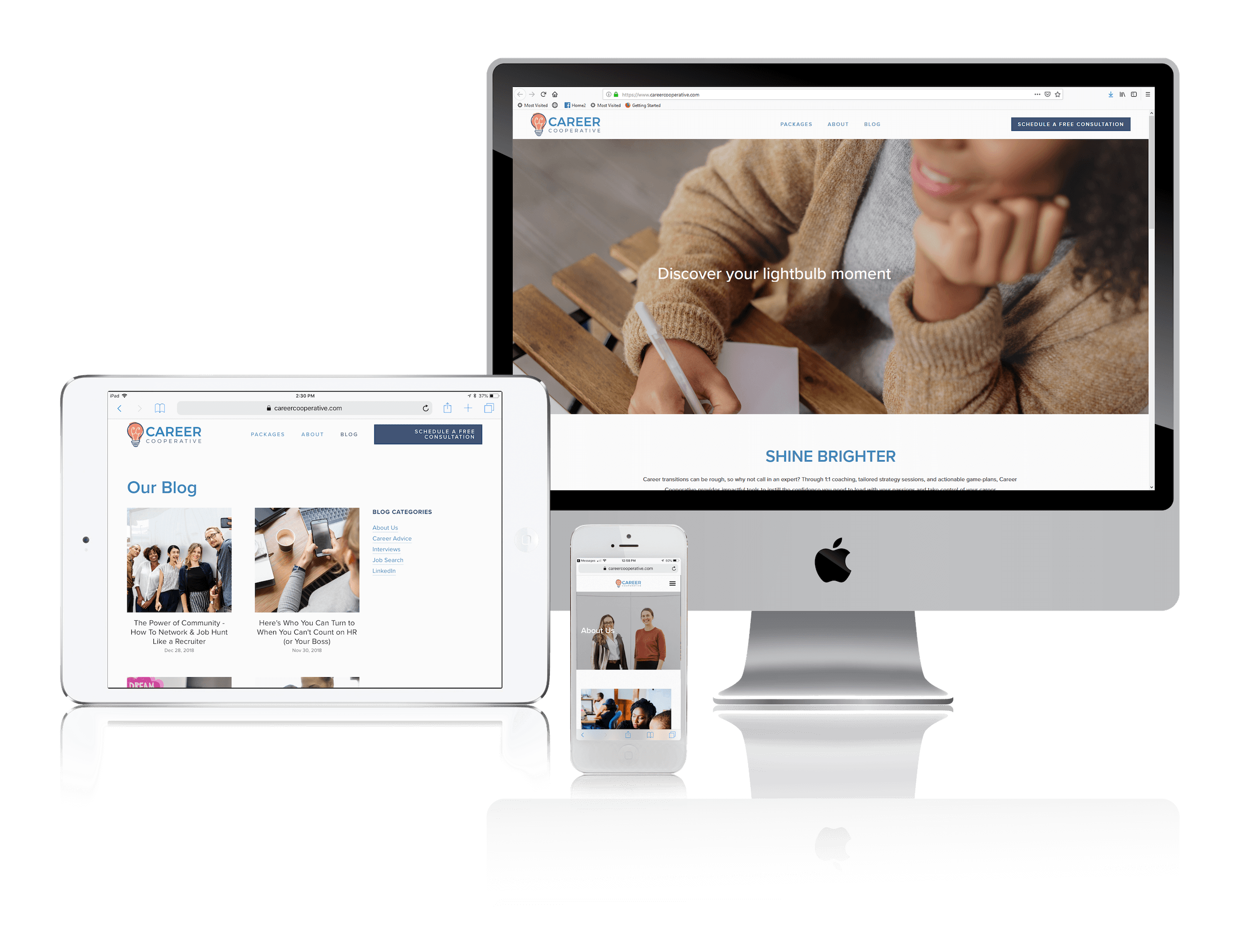 Squarespace for Career Consultant Websites