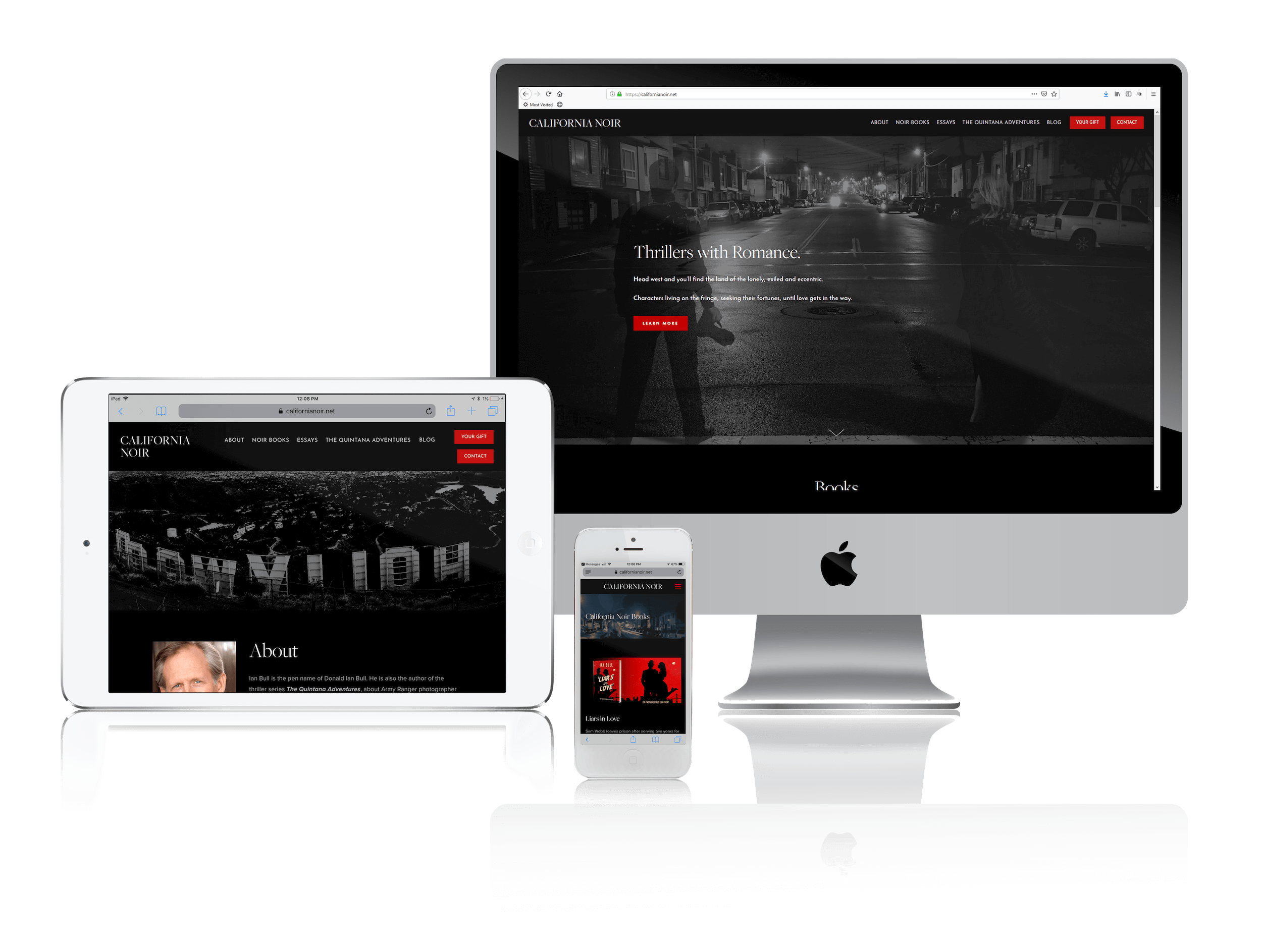 Squarespace for Romantic Thriller Writer Websites