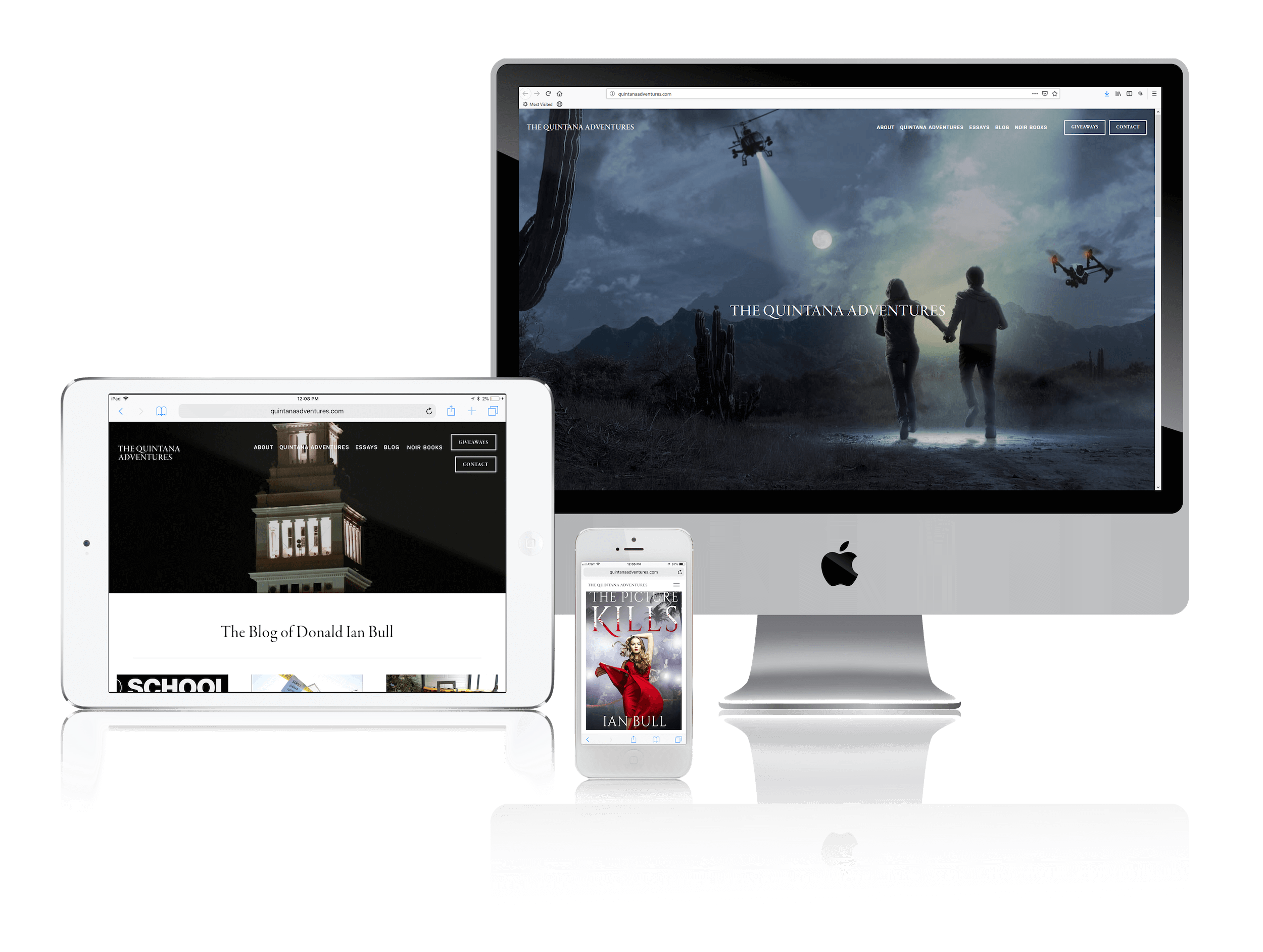 Squarespace for Action Thriller Author Websites