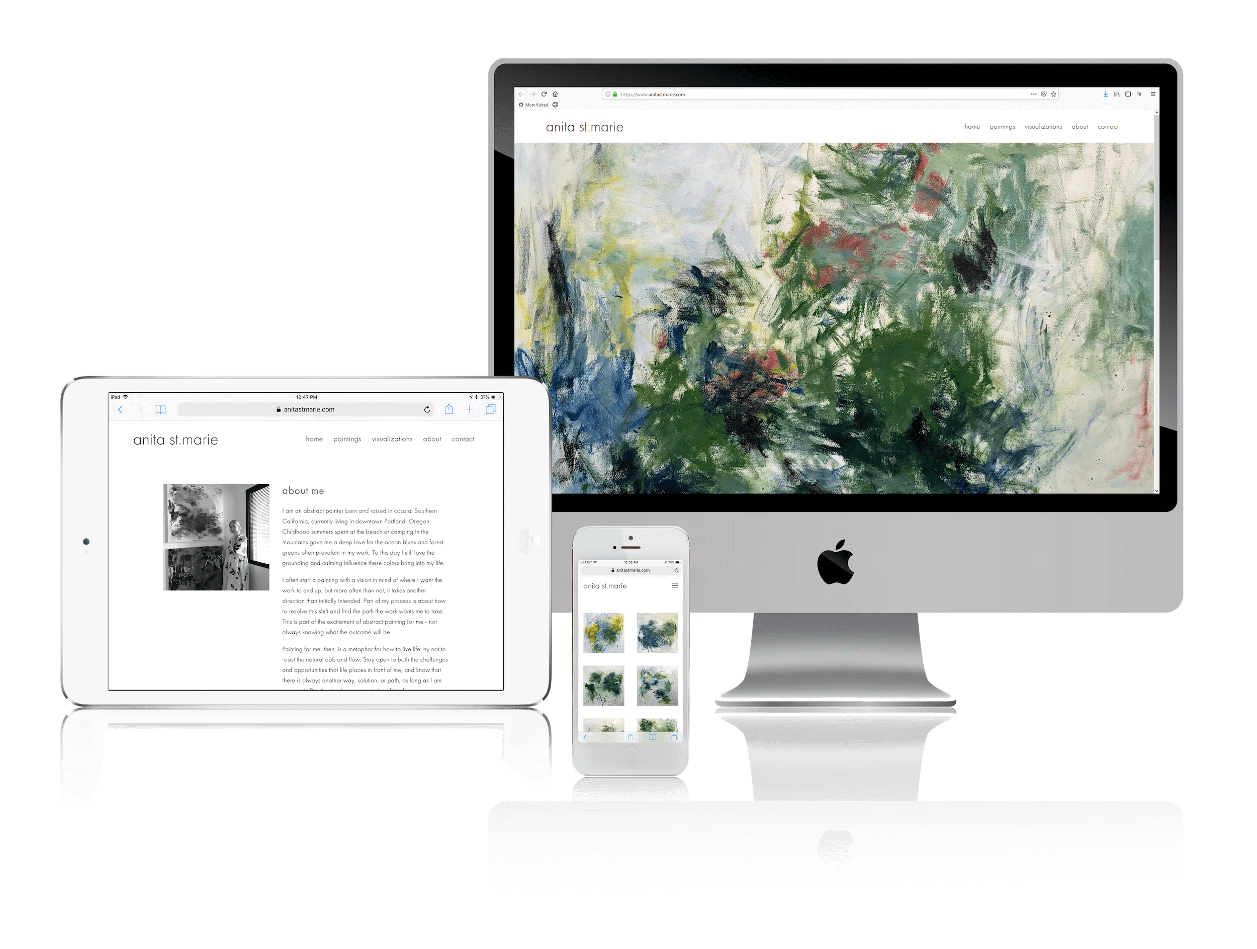 Squarespace Websites for Abstract Artists