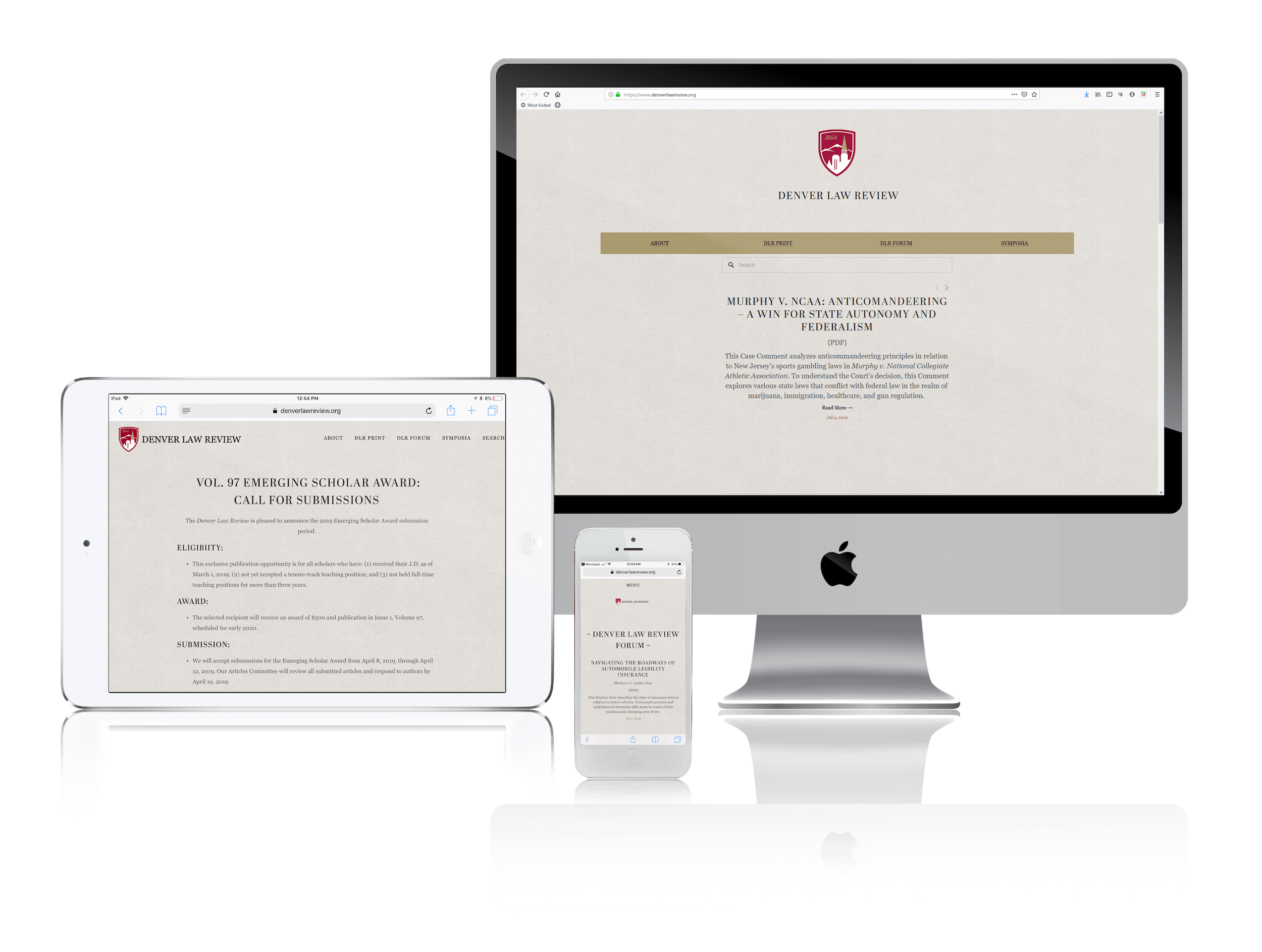 Squarespace Websites for Law Journals and Blogs
