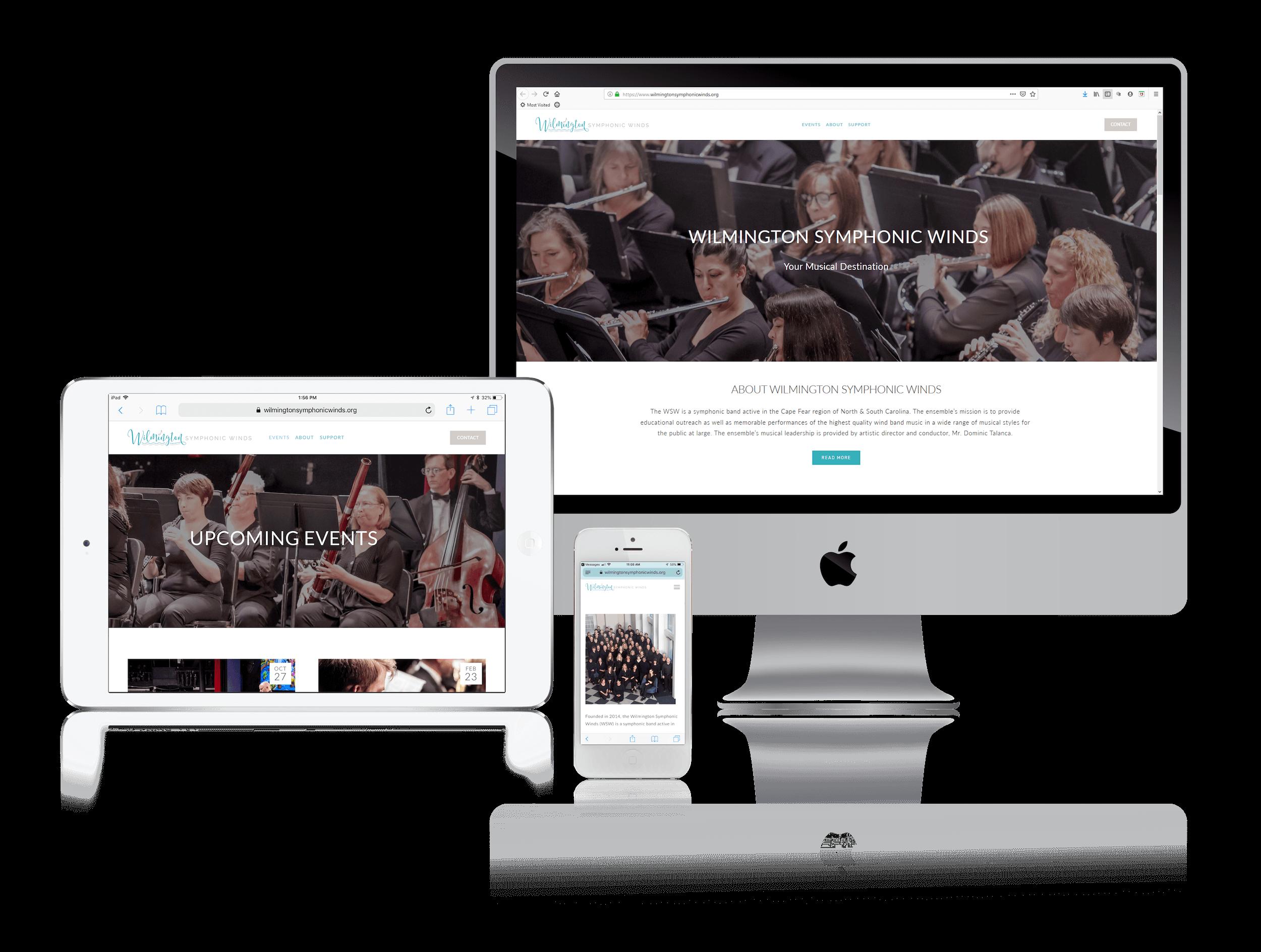 Squarespace Websites for Symphony Nonprofit
