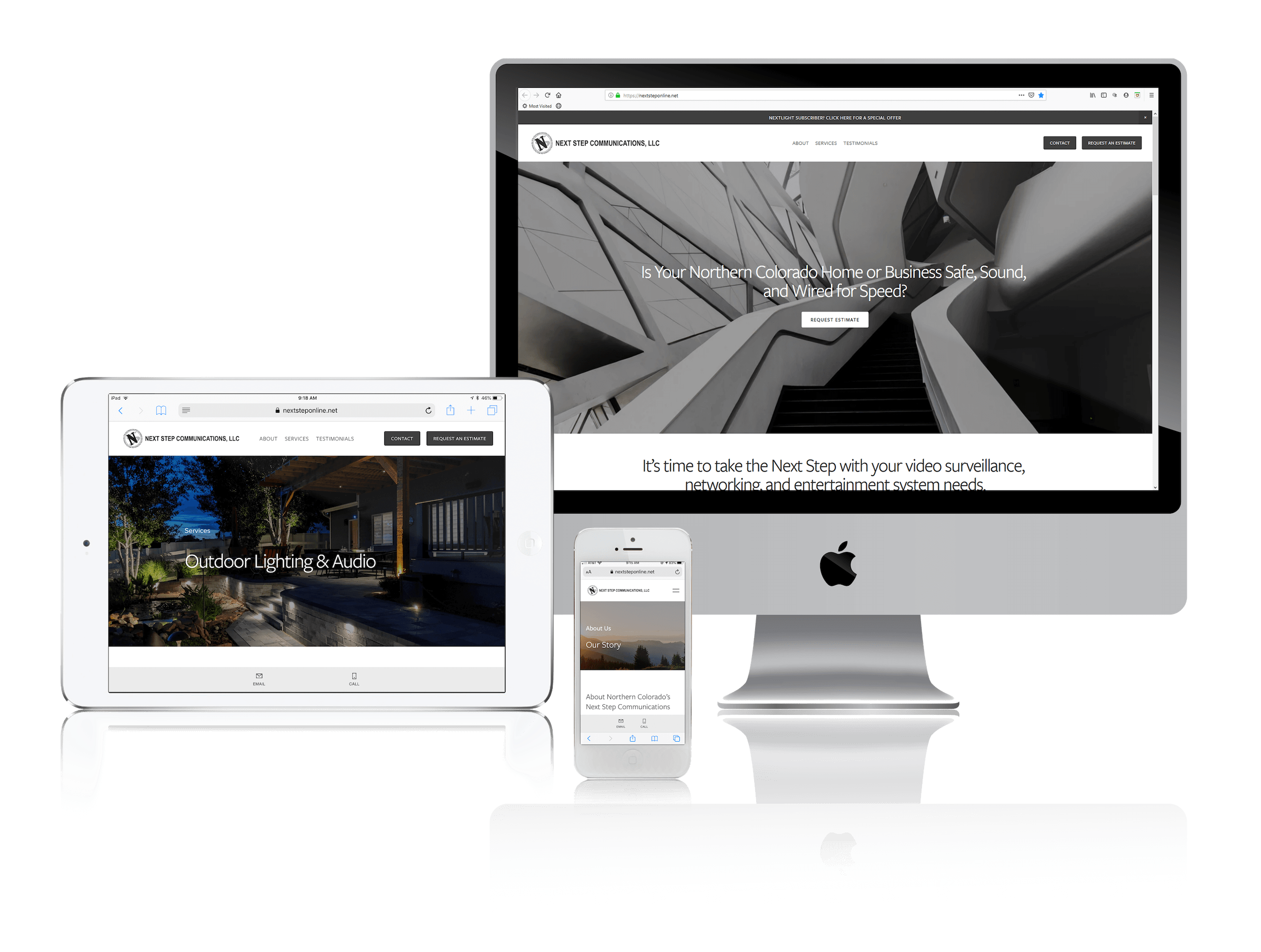Squarespace Websites for Communications and Entertainment