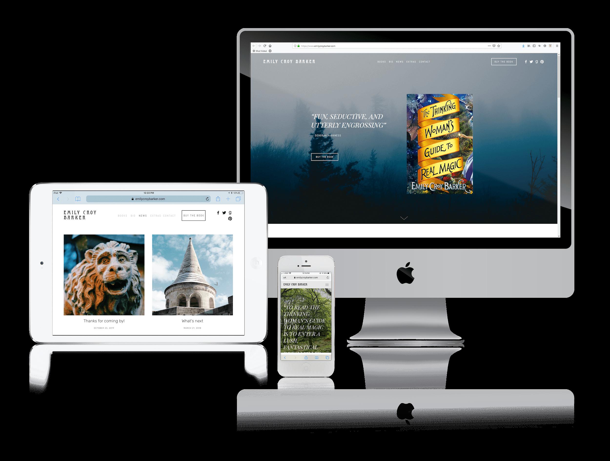 Squarespace for Fantasy Author Websites