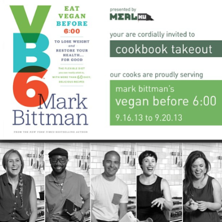 I was honored to be a part of Mealku & Mark Bittman's VB6 Cookbook take out.