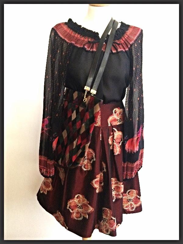 Vintage 70s Peasant Blouse   Walter Embroidered Skirt   Vintage Bottega Veneta Bag