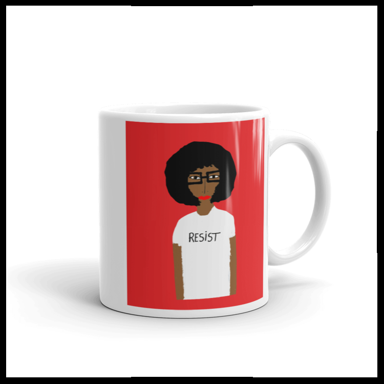 1. For the politically minded mom  -- if the mom you're gifting (like just about every mom we know) is into the #resist movement, she'll love having her morning cuppa in the Patrick-Earl for H*O*T Resist mug.